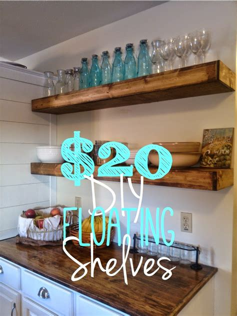on bliss diy floating shelves for 20 each