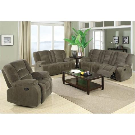 three piece sofa sets coaster charlie motion 3 piece reclining sofa set 600991