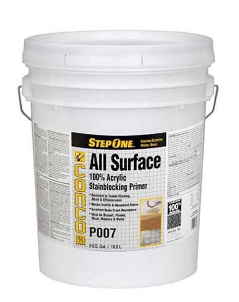 conco p007 interior exterior all surface stainblocking acrylic primer 5 gal at menards 174