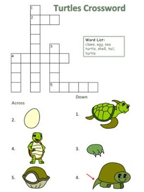 printable turtle puzzle turtle crosswords
