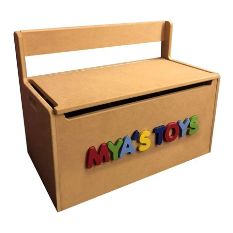 toy box storage bench personalized wooden toy storage box bench seat with 3d