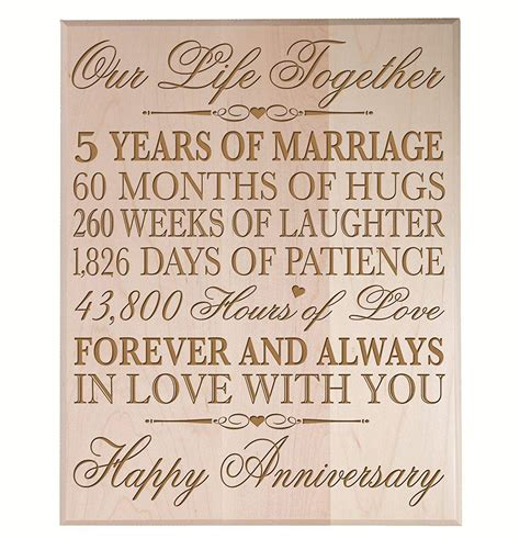 christmas gifts for 5 year marriag top 20 best 5th wedding anniversary gifts