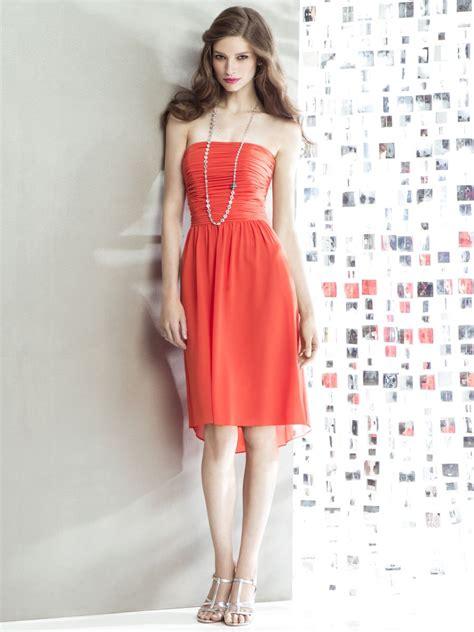 dessy social 8136 hi lo bridesmaid dress