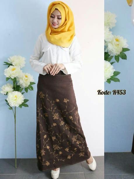 Big Salur Brown Gl53 rok bordir brown r453 baju style ootd