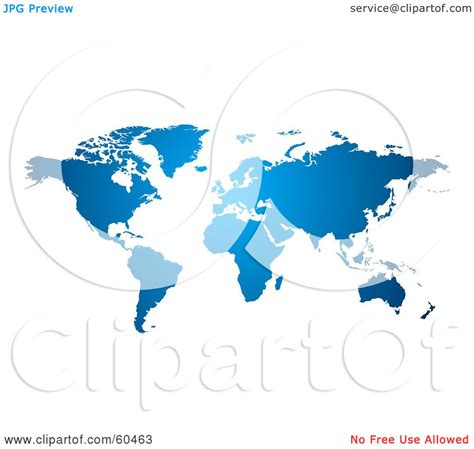 royalty free world map royalty free rf clipart illustration of a gradient blue