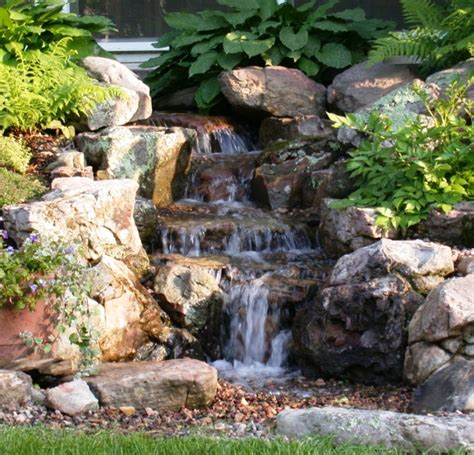 water feature on water features backyard - Waterfall Backyard