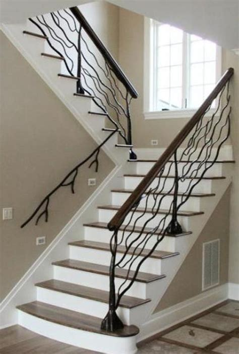 custom metal handrail designs for staircases design bookmark 12092