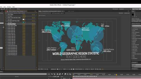 templates after effects tutorial infographics after effects template world geographic