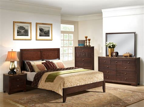 faux marble bedroom set b205 bedroom set in cherry finish w faux marble top casegoods