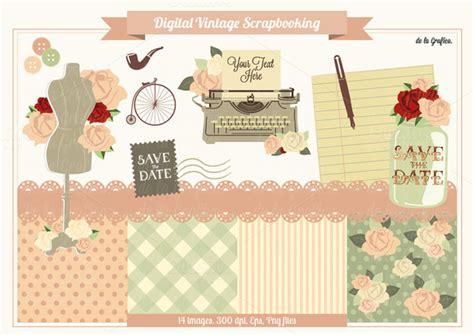 Website For Handmade Crafts - free digital scrapbooking kit with vintage elements