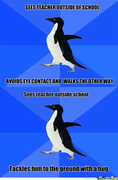 Awkward Penguin Meme - socially awkward penguin meme blank image memes at