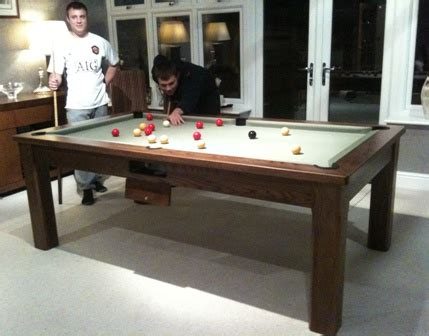 how to make a pool table dining top dining table pool tables uk manufacturer oak walnut teak