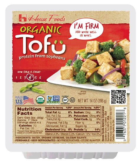 organic tofu firm 14 oz tofu product house foods