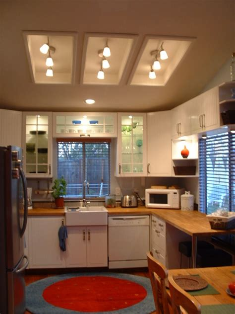 fluorescent light for kitchen entrancing living room