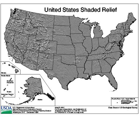 a relief map of the united states united states shaded relief nrcs