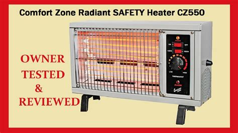 comfort zone heaters reviews comfort zone portable heater test review youtube
