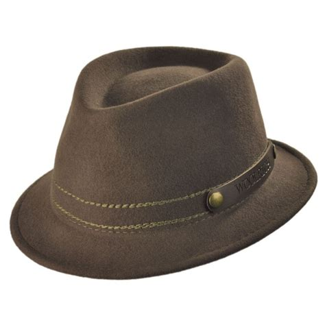 up hat woolrich roll up wool felt fedora hat crushable