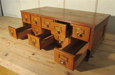 antique white desk with file drawer antiques atlas golden oak 10 drawer card index filing