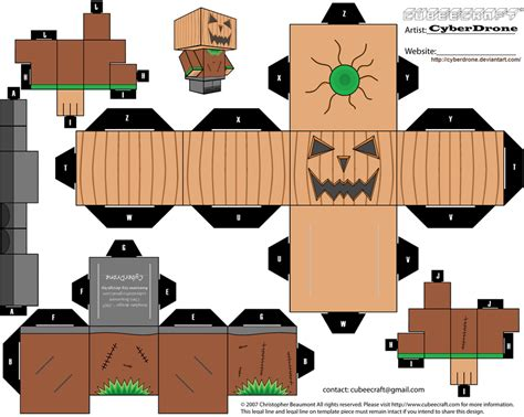 Papercraft Pumpkin - cubee pumpkin by cyberdrone on deviantart