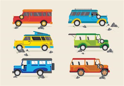 philippines jeepney vector jeepney traditional philippines bus vector stock images