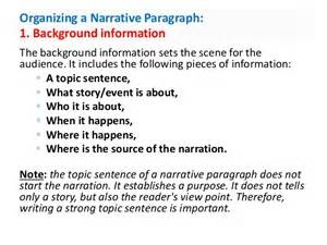 What Is The Purpose Of Background Information In An Essay narrative paragraph