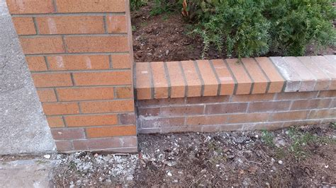 Backsteinmauer Sanieren by Brick Wall Repair 11 19 2015 2