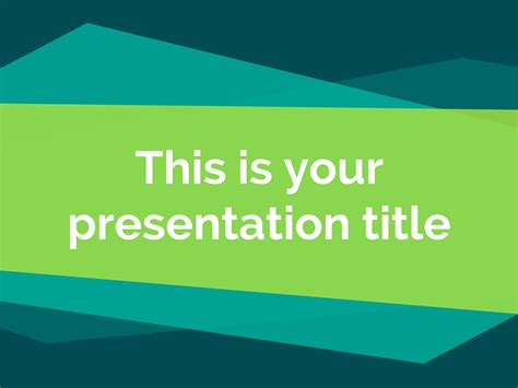 Free Modern Powerpoint Template Or Google Slides Theme With Geometric Pattern Slides Templates