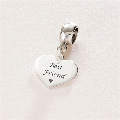 best friend sterling silver charm fits pandora