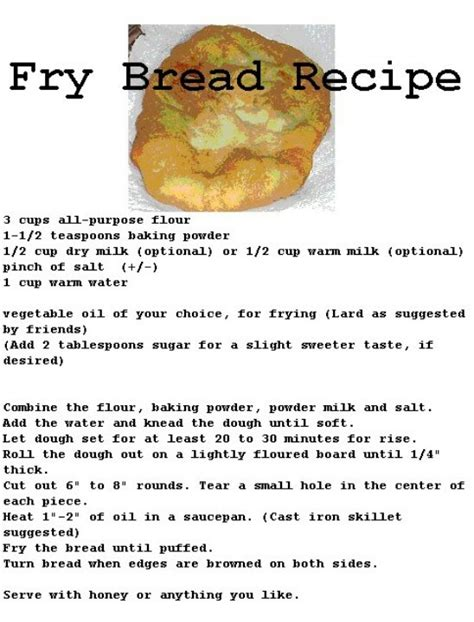fried bread recipe breakfast pinterest