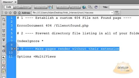 tutorial html y php link to pages without their extension html php htaccess