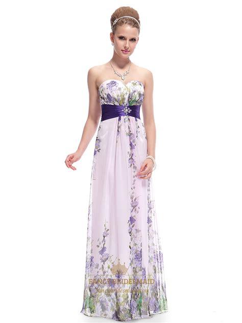 Print Chiffon Dress lilac floral print chiffon prom dress floral print maxi