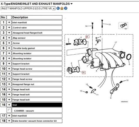 2005 jaguar x type valve wiring diagrams need replacement bolt fastener for air intake manifold