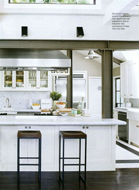 kitchen island with structural post best 25 steel beams ideas on fencing uses of steel and i beam