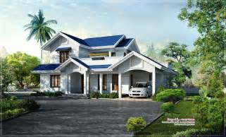 Home Design For 2500 Sq Ft beautiful blue roof villa elevation in 2500 sq feet