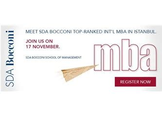 Sda Bocconi Mba Application Process by Duyuru Sda Bocconi Mba Istanbul Boston Consulting