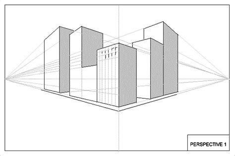 Drawing 2 Point Perspective Buildings by This Is Another 2 Point Perspective Drawing Of Some