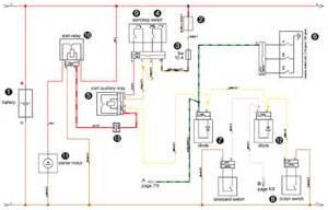 2007 ktm 950 adventure electric starter system circuit and schematics diagram