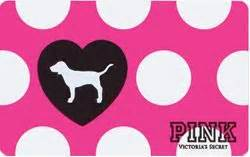 Vs Pink Gift Card - vs pink dog gift card letters to pink pinterest