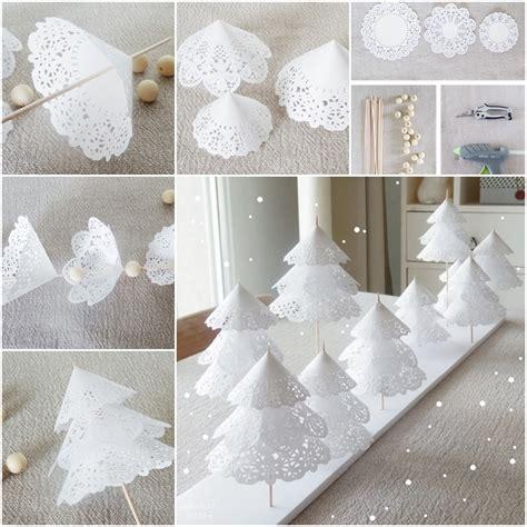 How To Make Doily Paper - diy paper doily tree tutorial