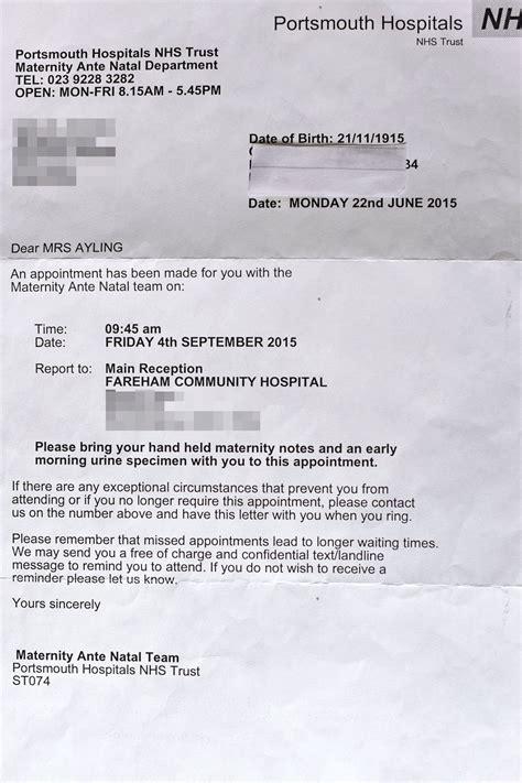 Appointment Letter Hospital Doris 100 Pregnant The Sun