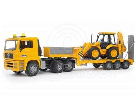bruder toys bruder toys 02776 pro series tga low loader with jcb