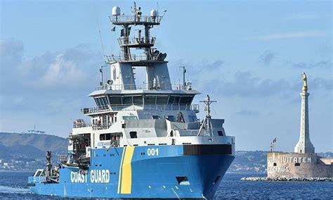 italian fire boat swedish coastguards in med fire warning shots at italian