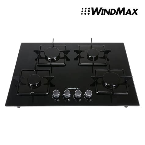 glass cooktop windmax 28 in blacktempered glass 4 burner built in stove