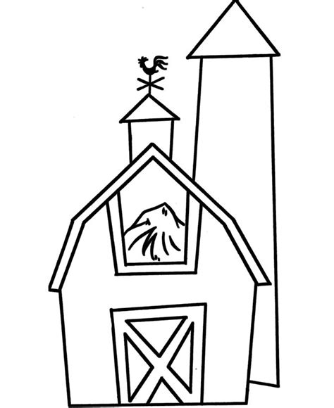 pre  coloring pages barn easy coloring pages