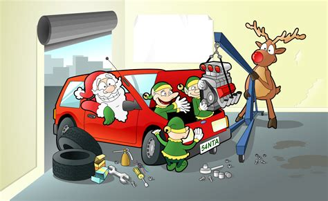 mechanic christmas xmas card design