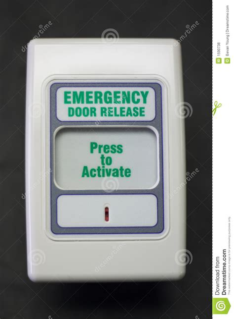 Emergency Door Release by Emergency Door Release Stock Photo Image Of Button Panic