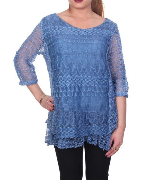Jumbo Blus Cozy Tunic Jumbo large size tunic mix contents 6057 blue grossiste pret a porter