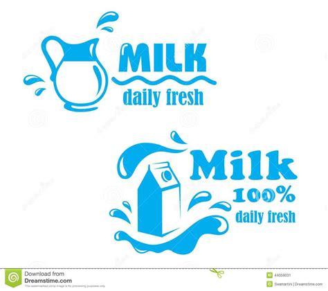logo design for milk fresh farming milk emblem stock vector image of freshness