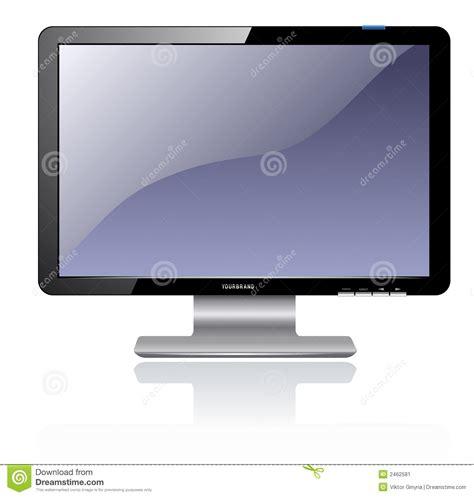 Monitor Lcd Cpu Computer Lcd Monitor Stock Image Image 2462581