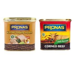 Pronas Corned Beef Kornet Daging Sapi 340 Gram Ko pronas canned fish citra sukses international